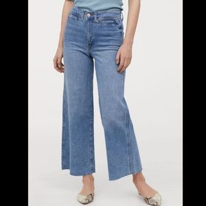 NWT H&M Conscious culotte jeans